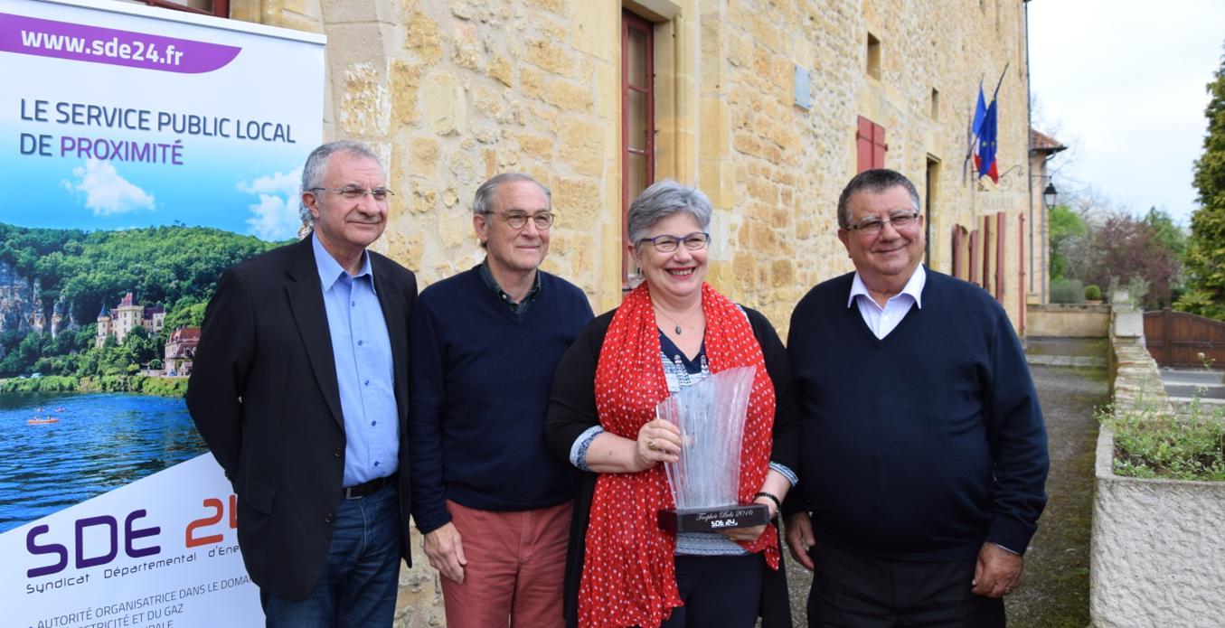 COMITE DE SECTEUR 3 BELVES-MONTPAZIER ORGANISE PAR LE SDE 24 : Vendredi 31 mars 2017, remise du « Trophée Adrien Bels » à Brigitte PISTOLOZZI, Conseillère Départementale du Canton.