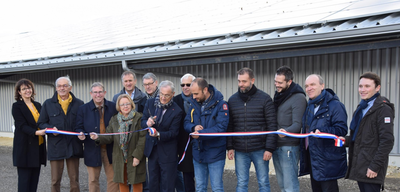 Inauguration de la 1ère toiture photovoltaïque de la SEM 24 Périgord Energies