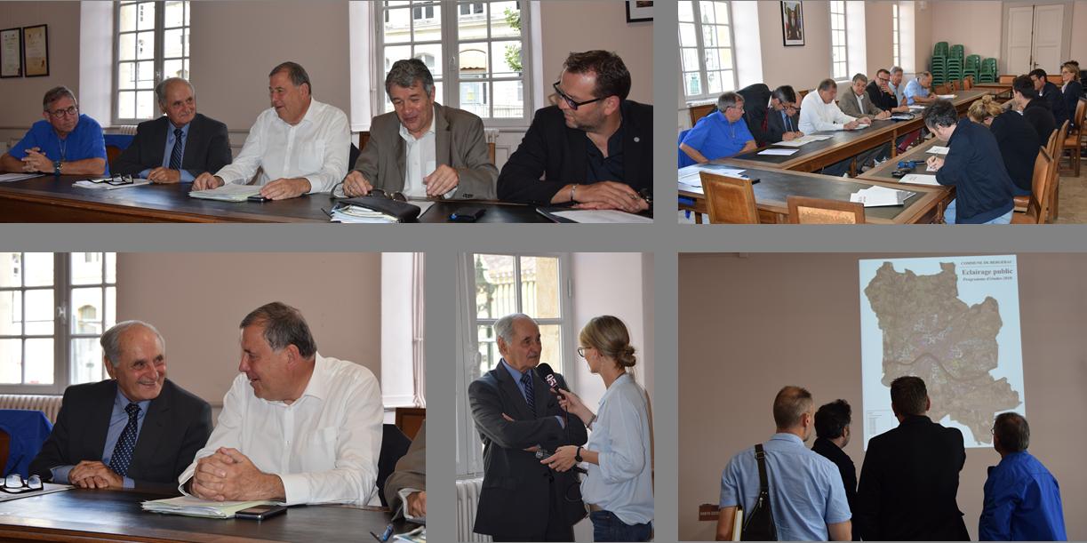"""13 JUIN 2018 - """"POINT PRESSE"""" programme de travaux d'éclairage public sur Bergerac - 600 000€ investis par le SDE 24 pour sécuriser les installations et réaliser des économies d'énergie"""