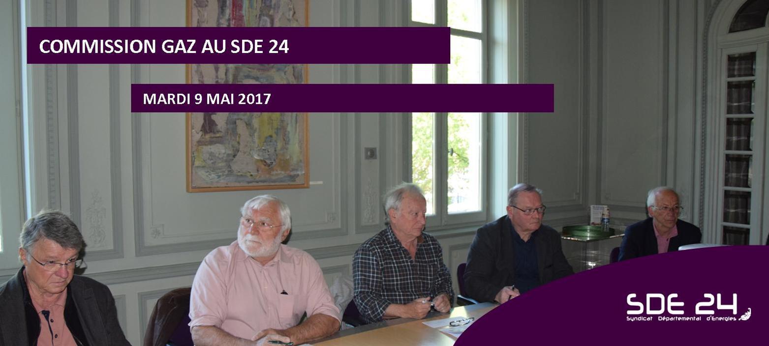COMMISSION GAZ ORGANISEE LE 9 MAI 2017 AU SDE 24 EN PRESENCE DES ELUS