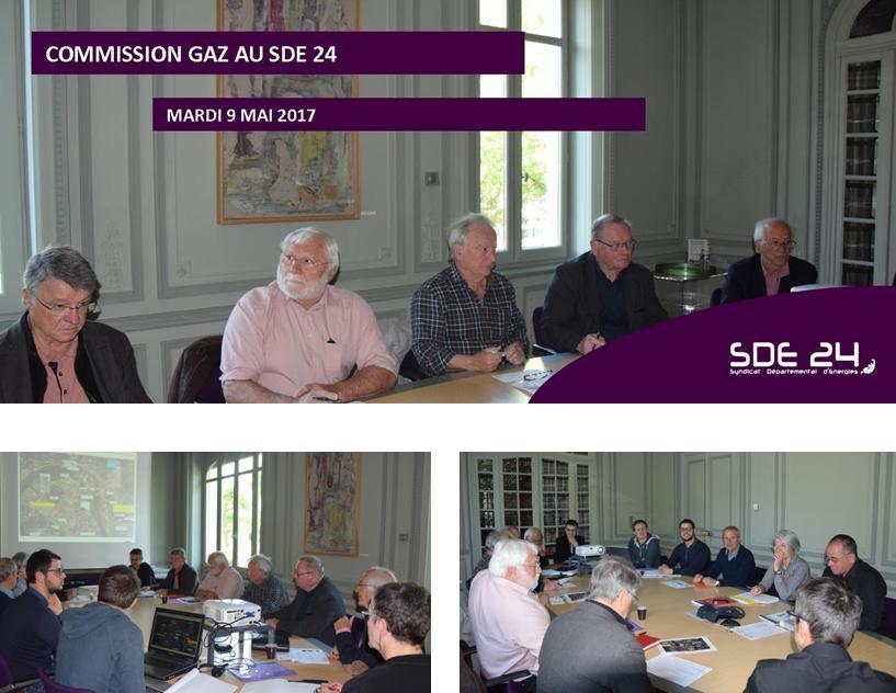 Commission Gaz mardi 9 mai 2017 au SDE 24