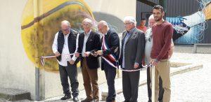 Inauguration de la halle de tennis couverte de panneaux photovoltaïque à Coursac le 15 juin 2019